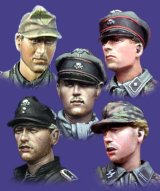 Alpine Miniatures[H006]WSS Panzer Crew Heads Set #2