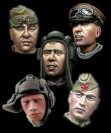 Alpine Miniatures[H013]WW2 Russian Heads Set #1