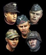 Alpine Miniatures[H018]WW2 German Heads Set #2