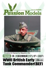 [Passion Models] [P35F004] WWII Early British Tank Commander (BEF)