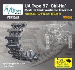 "Photo1: [Vision Models][VA-9003] 1/35 IJA Type 97 ""Chi-Ha"" Medium Tank Workable Track Set"
