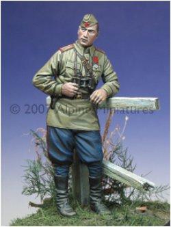 Photo5: Alpine Miniatures[AM35014]WW2 Russian Tank Crew Set 1943-45 (2 figures)