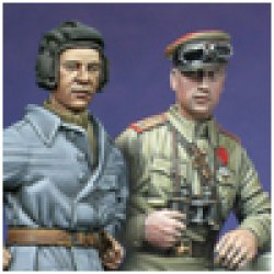 Photo1: Alpine Miniatures[AM35014]WW2 Russian Tank Crew Set 1943-45 (2 figures)