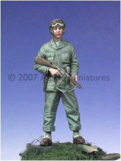 Photo1: Alpine Miniatures[AM35019]WW2 US Tanker w/ Tommy Gun