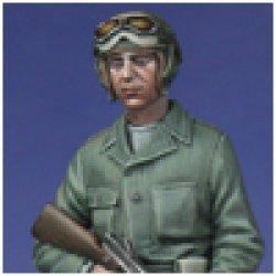 Photo5: Alpine Miniatures[AM35019]WW2 US Tanker w/ Tommy Gun