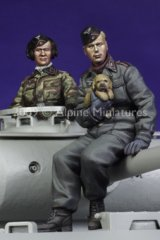 Alpine Miniatures[AM35089]German Panzer Crew Set (2 Figures)