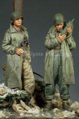Alpine Miniatures[AM35095]WW2 US Army Officer Set (2 Figures)