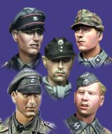 Alpine Miniatures[H005]WSS Panzer Crew Heads Set #1