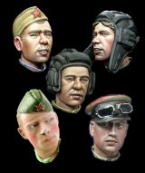 Alpine Miniatures[H014]WW2 Russian Heads Set #2