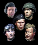 Alpine Miniatures[H015]WW2 British Heads Set #1