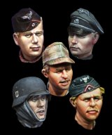 Alpine Miniatures[H017]WW2 German Heads Set #1
