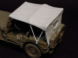 Photo3: [DECAL STAR] [D-016] WILLYS MB TILT COVER EXTENDED