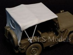 Photo4: [DECAL STAR] [D-016] WILLYS MB TILT COVER EXTENDED