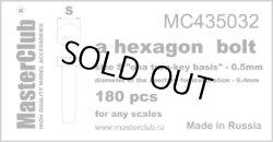 Photo1: Master Club [MC435032]A hexagon bolt,0.5mm