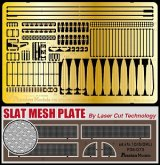 [Passion Models] [P35-073] Sd.kfz.10/5 Update Set Part1-A Slat Mesh Open ver. Laser Cut slat mesh and PE for DML