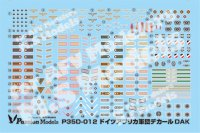 [Passion Models] [P35D-012]1/35 AFRIKAKORPS DAK Decal Set