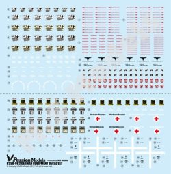Photo1: [Passion Models] [P35D-002] 1/35 WWII German Army Equipment Decal set