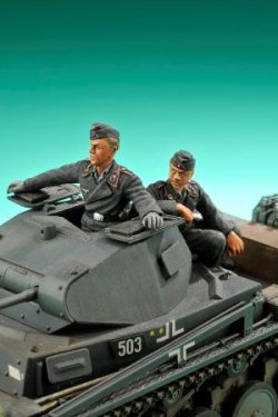 Photo3: [Passion Models] [P35F003] German Tank Crew (2 fig.)