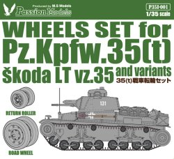 Photo2: [Passion Models] [P35I-001] WHEELS SET for Pz.kpfw.35(t) and variants
