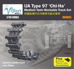 "Photo1: [Vision Models][VA-9003] 1/35 IJA Type 97 ""Chi-Ha"" Medium Tank Workable Track Set"