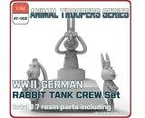 [ZLPLA][AT-002] 1/35 WWII German Rabbit Tank Crew Set (3figures)