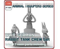 Photo1: [TORI FACTORY][AT-002] 1/35 WWII German Rabbit Tank Crew Set (3figures)