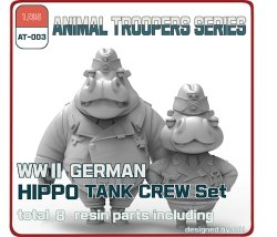 Photo1: [ZLPLA][AT-003]  1/35 WWII German Hippo Tank Crew Set A (2 figures)