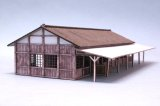 [Kamizukuri] [N-3]1/150 Station building Old Japan No.1