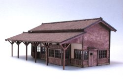 Photo1: [Kamizukuri] [N-4]1/150 Station building Old Japan No.2