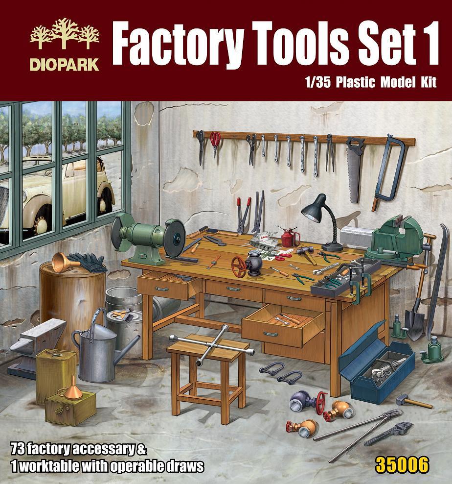 Diopark Dp35006 1 35 Factory Tools Set 1 Passion Models